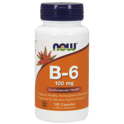 Now Foods Vitamin B-6 100 mg (100 kapszula)