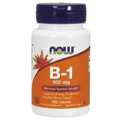 Now Foods Vitamin B-1 100 mg (100 tabletta)
