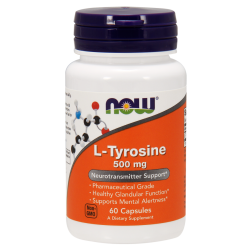 Now Foods L-Tyrosine 500 mg (60 kapszula)