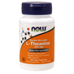 Now Foods Double Strength L-Theanine 200 mg (60 növényi kapszula)