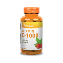 Vitaking Vitamin C-1000 w Rosehips (100 tabletta)
