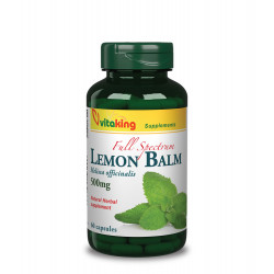 Vitaking Full Spectrum Lemon Balm (Citromfű) 500 mg (60 kapszula)
