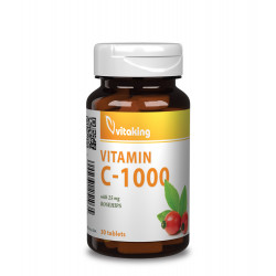 Vitaking Vitamin C-1000 w Rosehips (30 tabletta)